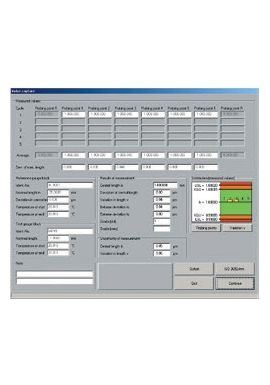 TESA UP – Software Programme for gauge block calibration 05960025