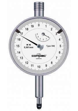 Tesa Compac 556E IP54 58mm Dial Gauge 5mm travel .001mm resolution waterproof