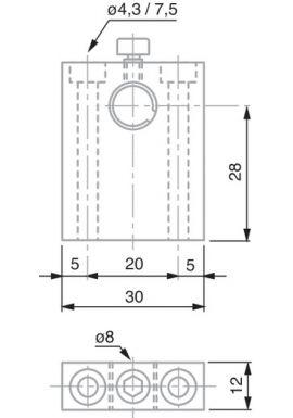 TESA 02660048 VDE 28 probe holder, Ø 8 mm Diameter