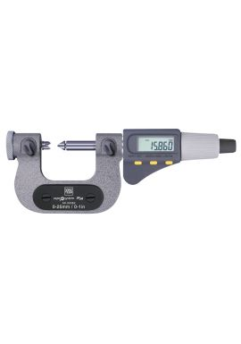"Tesa 06030064 MICROMASTER AC Micrometer for Thread Measurement 2-3""/50-75mm"