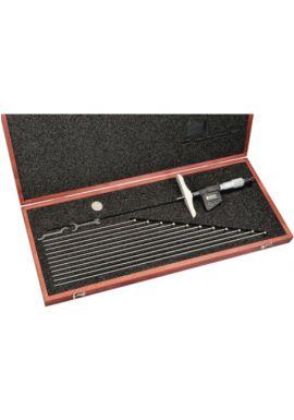 """Starrett 749BZ-12RL Digital depth Micrometer 0-12"""" / 0-300mm Range 0001"""" /0.001mm Res base 4"""""""