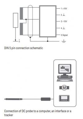 Tesa 03230081 GT31DC miniature probe, ±0.3mm measuring range with output signal in V